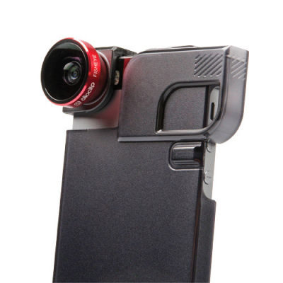 Olloclip 4-in-1 Lens System + Quick Flip voor Apple iPhone 5/5s Rood/Zwart