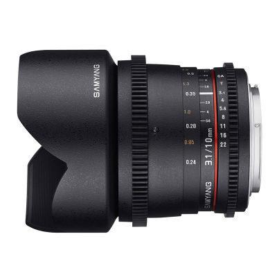 Samyang 10mm T3.1 ED AS NCS CS VDSLR objectief Pentax
