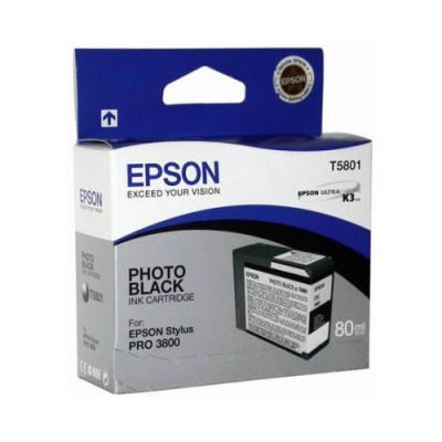 Epson Inktpatroon T580100 - Photo Black/Foto Zwart (Pro 3800/3880) (origineel)