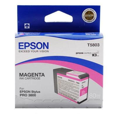 Epson Inktpatroon T580300 - Magenta/Magenta (Pro 3800) (origineel)