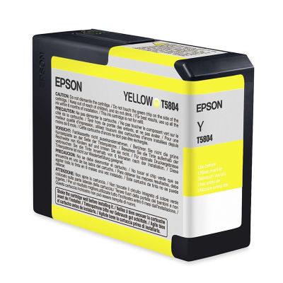 Epson Inktpatroon T580400 - Yellow/Geel (Pro 3800/3880) (origineel)