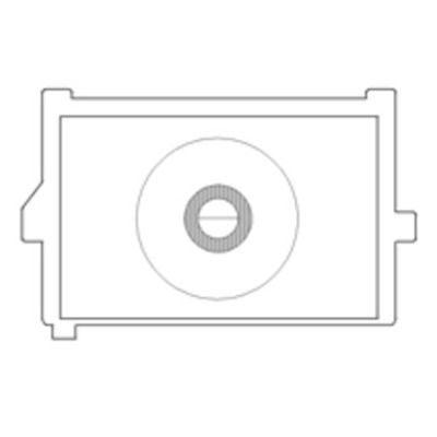 "KatzEye ""Plus"" Horizontal Split Prism, Standard Matte voor Canon EOS 550D en 600D"