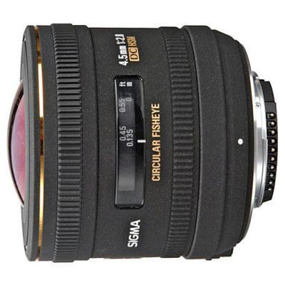 Sigma 4.5mm f/2.8 EX DC HSM Fisheye Canon objectief