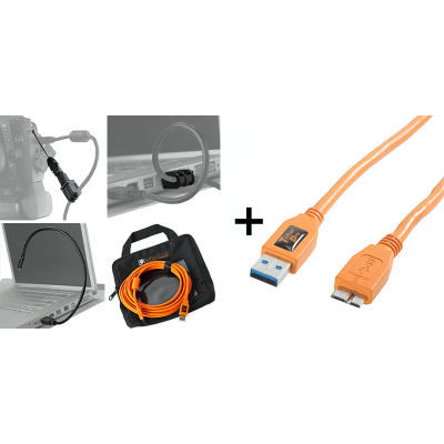 Tether Tools Starter Tethering Kit with USB 3.0 Micro-B Cable 4.5 Meter Orange