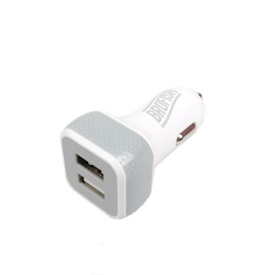 Brofish USB Carcharger Duo White & Grey