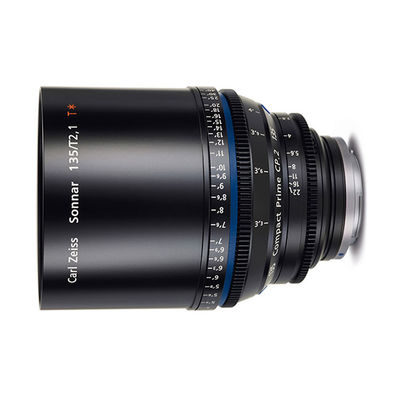 Carl Zeiss Compact Prime CP.2 Sonnar T* 135mm T2.1 Meters objectief Canon EF-Vatting