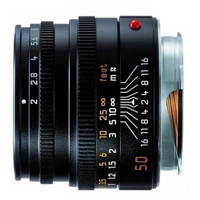 Leica Summicron-M 50mm f/2.0 objectief Zwart