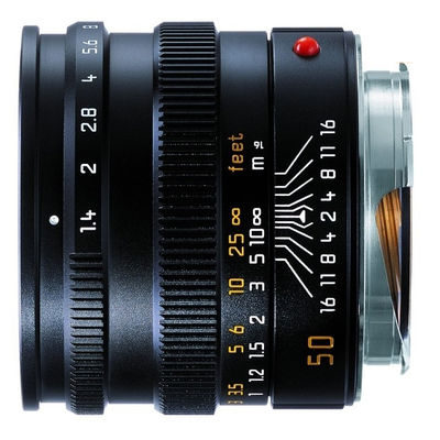 Leica Summilux-M 50mm f/1.4 ASPH objectief Zwart