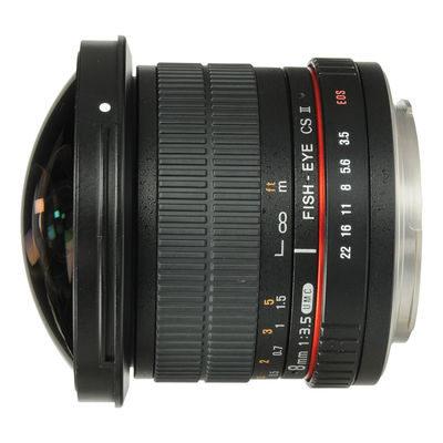 Samyang 8mm f/3.5 Fisheye MC Canon CS-II objectief