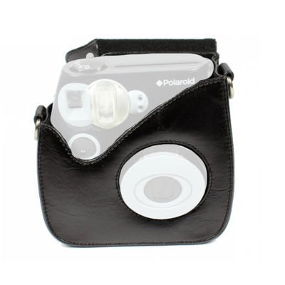 Polaroid 300 leather case Zwart