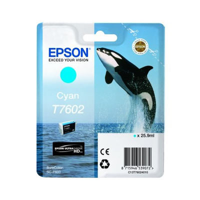 Epson Inktpatroon T7602 - Cyan High Capacity