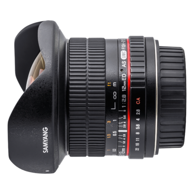 Samyang 12mm f/2.8 ED AS NCS Fisheye Canon EOS M objectief
