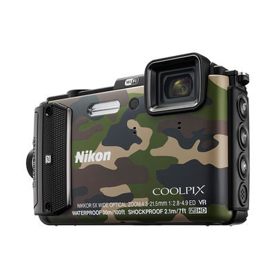 Nikon Coolpix AW130 compact camera Camouflage
