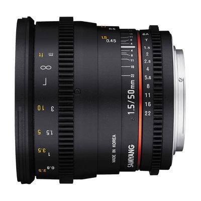 Samyang 50mm T1.5 AS UMC VDSLR Nikon objectief