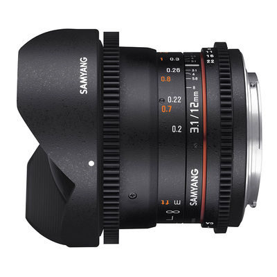 Samyang 12mm T3.1 ED AS NCS VDSLR Fisheye MFT objectief