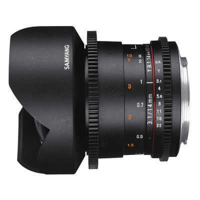 Samyang 14mm T3.1 ED AS IF UMC Canon M VDSLR II objectief