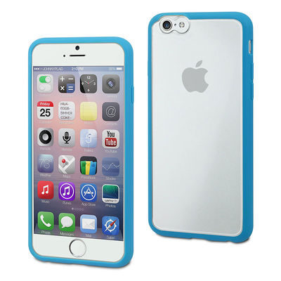 muvit iPhone 6 Plus MyFrame Case Blue/Transparant