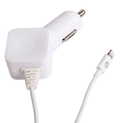 muvit Car Charger SQ Apple Lightning 2.4A White