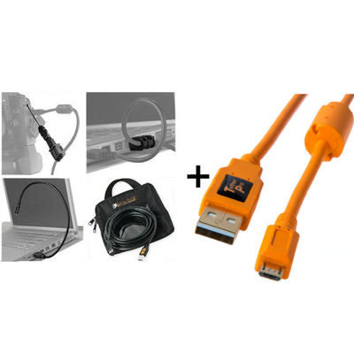 Tether Tools Starter Tethering Kit with USB 2.0 Micro-B 5 Pin Cable 4.5m Orange