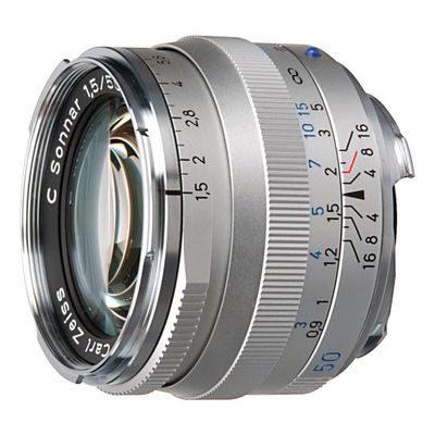Carl Zeiss ZM C Sonnar T* 50mm f/1.5 objectief Zilver
