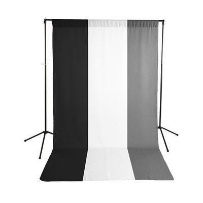 Savage Economy Background Kit met Polyester background Chroma Black/White/Grey Kit (1.52m x 2.74m)