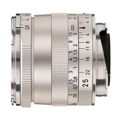 Carl Zeiss ZM Biogon T* 25mm f/2.8 objectief Zilver
