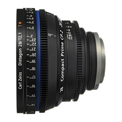 Carl Zeiss Compact Prime CP.2 Distagon T* 28mm T2.1 Meters objectief Canon EF-vatting