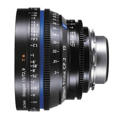 Carl Zeiss Compact Prime CP.2 Distagon T* 15mm T2.9 Meters objectief Canon EF-vatting