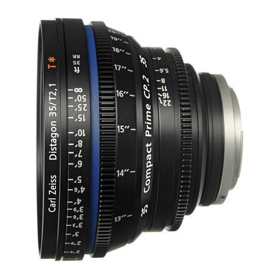 Carl Zeiss Compact Prime CP.2 Distagon T* 35mm T2.1 Meters objectief Canon EF-vatting