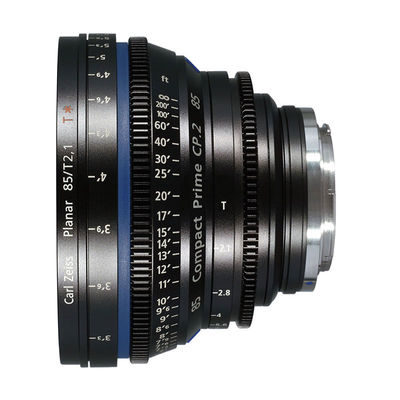 Carl Zeiss Compact Prime CP.2 Planar T* 85mm T2.1 Meters objectief Canon EF-vatting