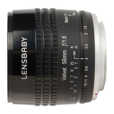 Lensbaby Velvet 56 Sony objectief Zwart