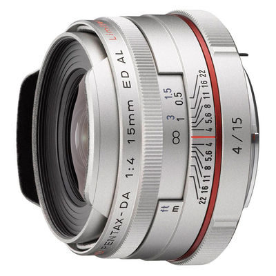 Pentax HD DA 15mm f/4.0 ED AL objectief Zilver