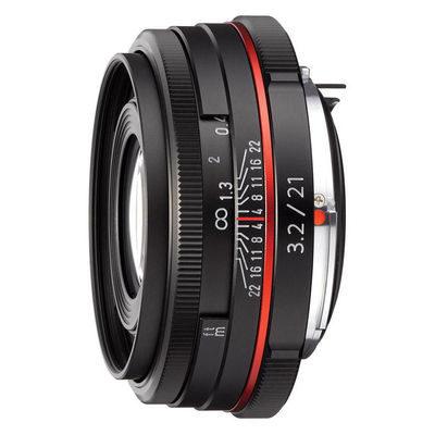 Pentax HD DA 21mm f/3.2 AL objectief Zwart