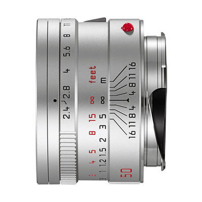 Leica Summarit-M 50mm f/2.4 objectief Zilver