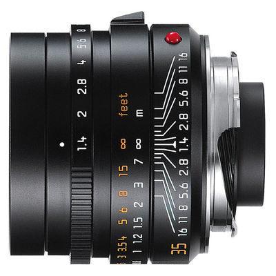 Leica Summilux-M 35mm f/1.4 ASPH objectief Zwart