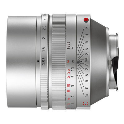 Leica Noctilux-M 50mm f/0.95 ASPH objectief Zilver