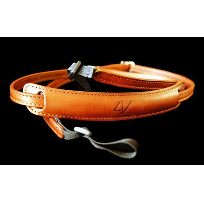 4V Design Lusso Slim Neck Strap Tuscany Leather Brown/Brown
