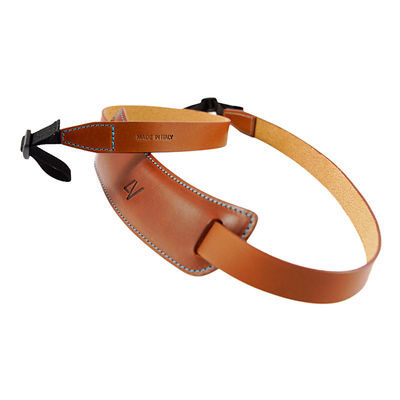 4V Design Classic Large Neck Strap Tuscany Leather Brown/Cyan