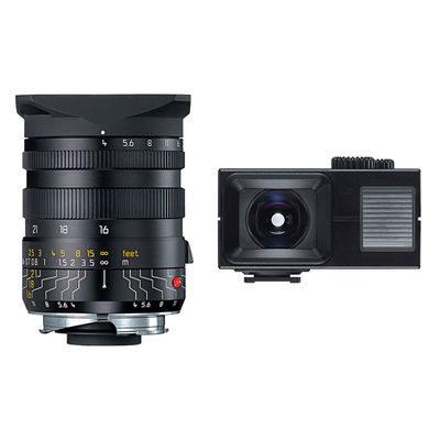 Leica Tri-Elmar-M Set 16-18-21mm f/4.0 objectief Zwart + Universal Wide-Angle Viewfinder