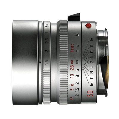 Leica Summilux-M 50mm f/1.4 ASPH objectief Zilver