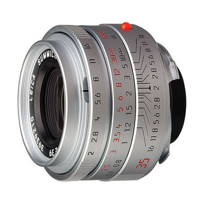 Leica Summicron-M 35mm f/2.0 ASPH objectief Zilver