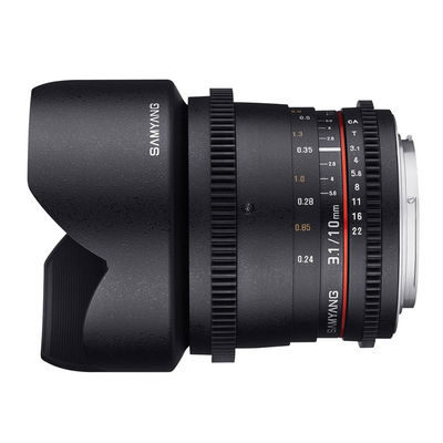 Samyang 10mm T3.1 ED AS NCS CS VDSLR objectief Canon M