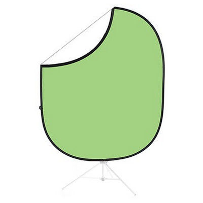 Savage 2-zijdige Opvouwbare Achtergrond 152x183cm (Light Green/White)