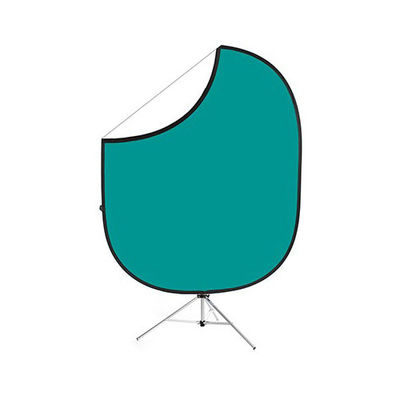Savage 2-zijdige Opvouwbare Achtergrond Kit 152 x 183cm (Teal/White)