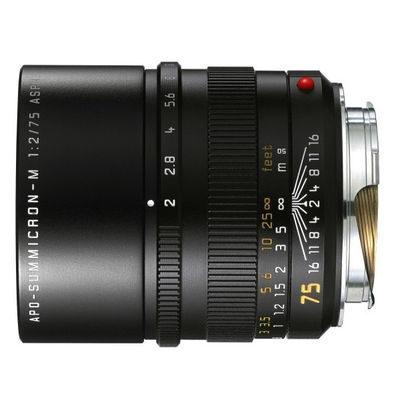 Leica APO-Summicron-M 75mm f/2.0 ASPH objectief Zwart