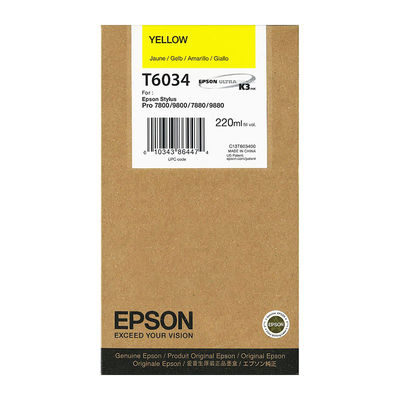Epson Inktpatroon T6034 - Yellow/Geel - 220ml (origineel)