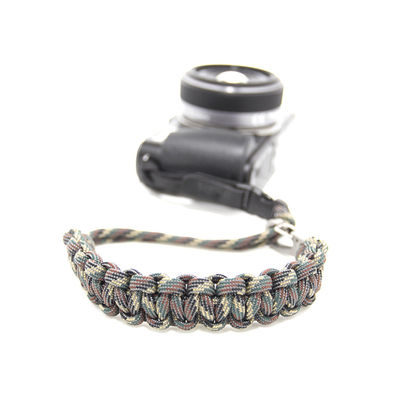 DSPTCH Camera Wrist Strap - Camo/Stainless Steel