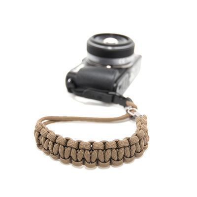 DSPTCH Camera Wrist Strap - Coyote/Stainless Steel