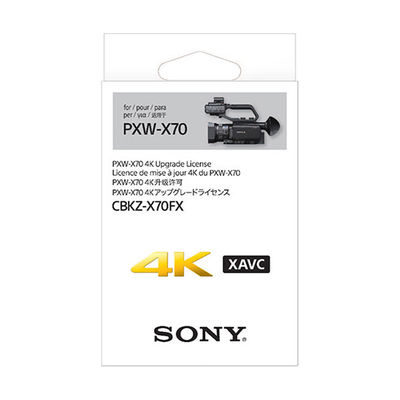 Sony CBKZ-X70FX 4K Upgrade Licentie voor PXW-X70