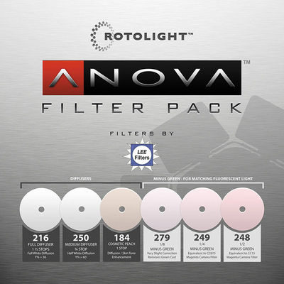 Rotolight Replacement 6-piece filter pack voor Anova